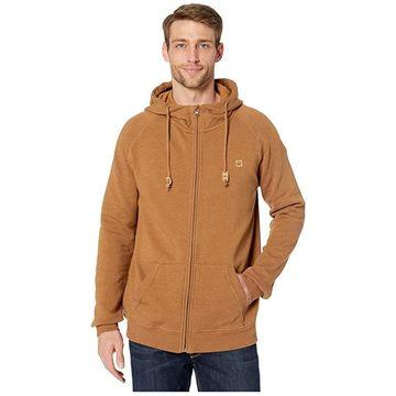 tentree Oberon Zip Hoodie (Rubber Brown Heather) Men's Sweatshirt