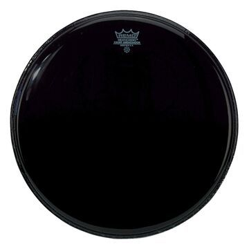 ES102400-U 24 in. Ebony Medium Weight Black Bass Drum Batter Head