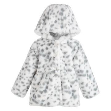 First Impressions Baby Girls Snow Leopard Faux Fur Coat, Created for Macy's