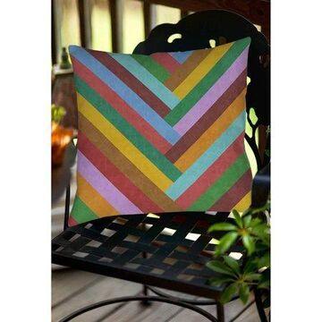 Thumbprintz Chevron Rainbow Indoor/Outdoor Pillow