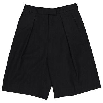 Dries Van Noten Black Wool Shorts
