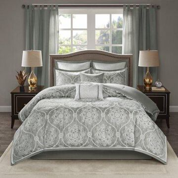 Home Essence Lanford 8 Piece Jacquard Comforter Set