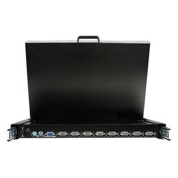 StarTech.com1U 17in Folding Rackmount LCD Console with 8-Port Multi Platform KVM(RACKCONS1708)