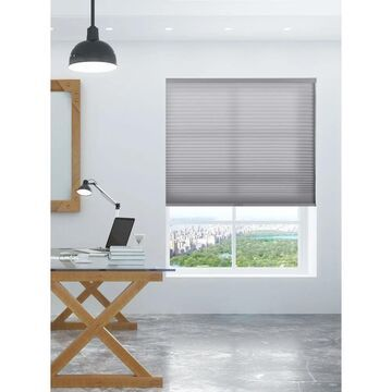 """Arlo Blinds Grey Light Filtering Cordless Cellular Shades (52""""W x 72""""H)"""