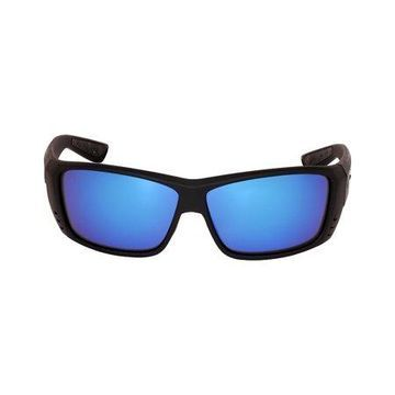 Costa Cat Cay Plastic Frame Blue Mirror Lens Unisex Sunglasses AT01OBMGLP