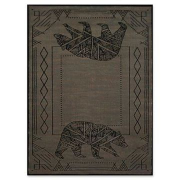 United Weavers Affinity Bear Cave 9' x 12' Area Rug in Blue/Grey