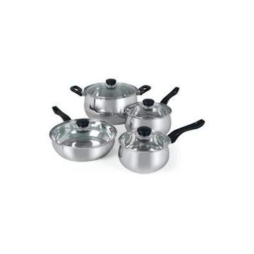 Gibson 8 Piece Oster Rametto Stainless Steel Cookware Set -