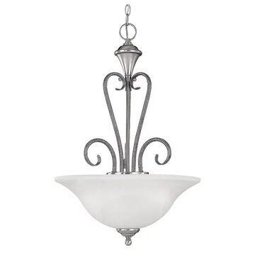 Millennium Lighting 663 Devonshire 3 Light Pendant - Silver
