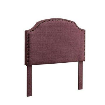 Benzara BM123795 Hasselt King Headboard, Purple