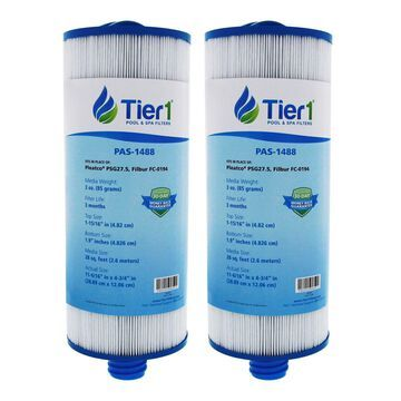Tier1 Saratoga Spa Circulation Pump Pleatco PSG27.5 Comparable Replacement Filter Cartridge (2-Pack)