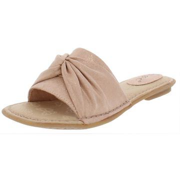 B.O.C. Womens Hayley Faux Suede Flats Slide Sandals