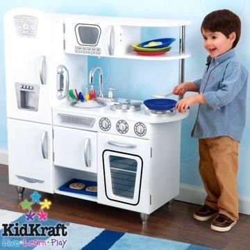 KidKraft White Kitchen Vintage Life Like Pretend Play Children Kids Toy Wood New