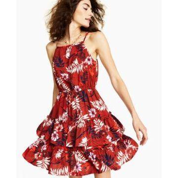 Bar Iii Printed Mini Dress, Created for Macy's
