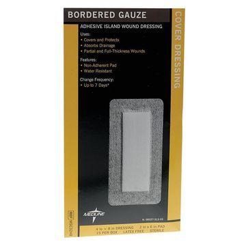 Medline Sterile Bordered Gauze 4x8