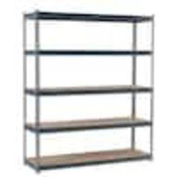 edsal 72-in H x 72-in W x 24-in D 5-Tier Steel Freestanding Shelving Unit