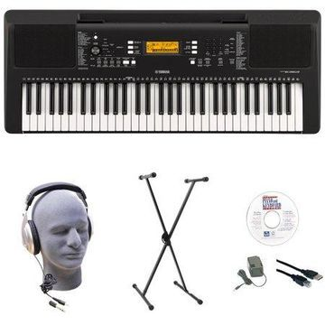 Yamaha PSR-E363 EPS 61-Key Premium Lighted Keyboard Pack with Stand, Headphones, Power Supply, USB Cable & eMedia Instructional Software