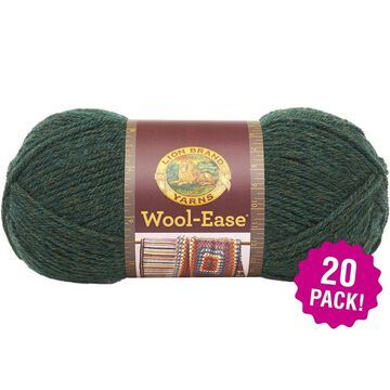 Lion Brand Wool Ease Yarn - 20/Pk-Forest Green Heather