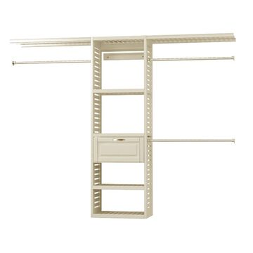 allen + roth 8-ft x 6.6-ft Antique White Wood Closet Kit