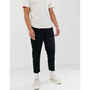 Another Influence Pleat Front Loose Cropped Pants
