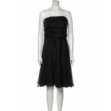 Strapless Mini Dress Black