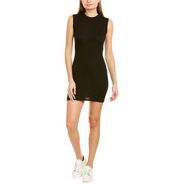Enza Costa Ribbed Sleeveless Silk-Blend Mini Dress