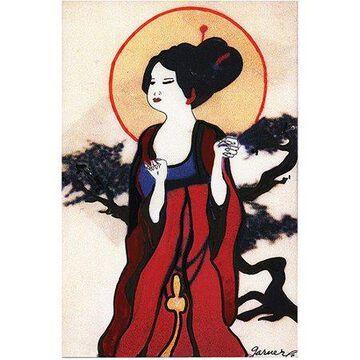 Trademark Art Japanese Woman by Garner Lewis