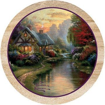 Thirstystone Drink Coasters Set, A Quiet Evening