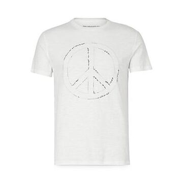 John Varvatos Star Usa Embroidered Peace Sign Graphic Tee