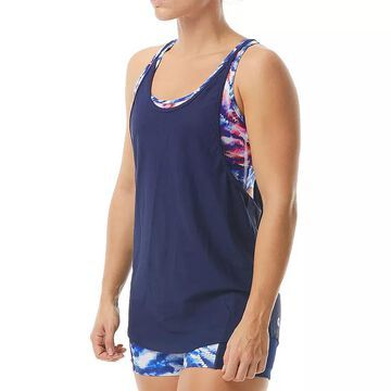 Women's TYR Body Sculpting UPF 50 2-In-1 Tankini Top, Size: Small, Med Red
