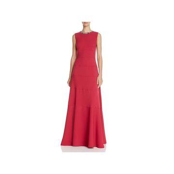 Carmen Marc Valvo Womens Formal Dress Embellished Sleeveless - 2