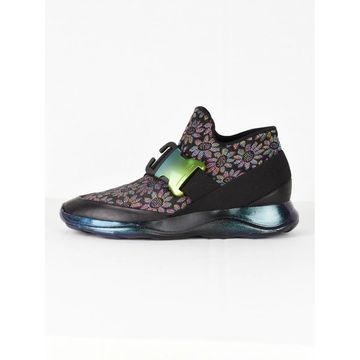 Christopher Kane Black Cloth Trainers