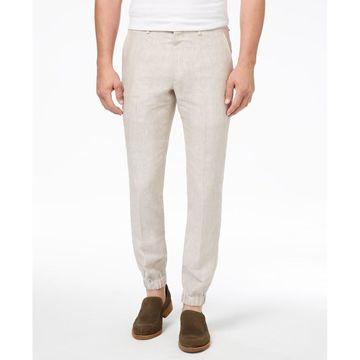 TALLIA ORANGE Mens 33X32 Solid Linen Jogging Pants