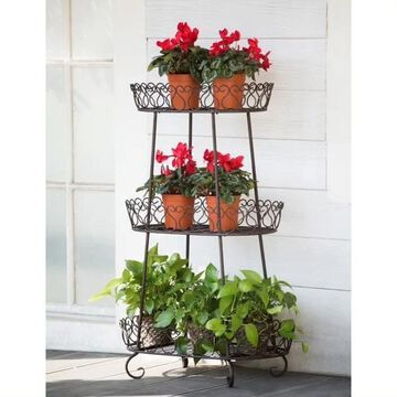 Sunjoy Oval Plant Stand