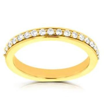 14k Yellow Gold 1/3ct TDW La Vita Vital Wedding Band