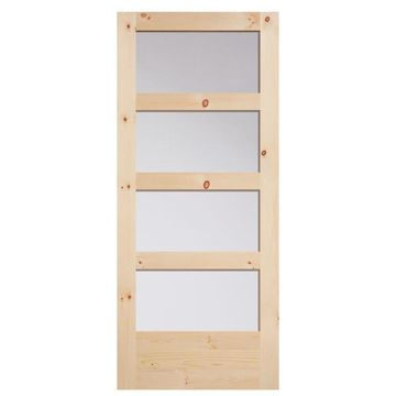 Masonite Unfinished Wood Knotty Pine Barn Door (Common: 36-in x 84-in; Actual: 36-in x 84-in)
