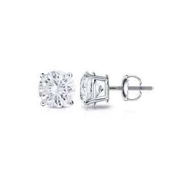 Auriya Platinum 0.33ctw Round Diamond Stud Earrings