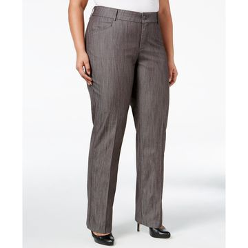 Plus Size Total Freedom Madelyn Denim Trousers, Created for Macy's