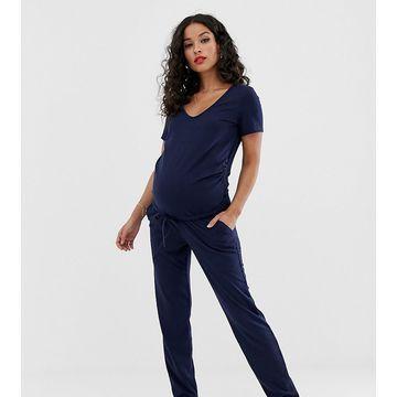 Mamalicious maternity rib jersey jumpsuit