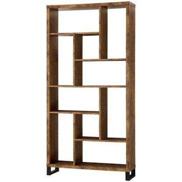 Coaster Company 10 - Shelf Bookcase, Antique Nutmeg