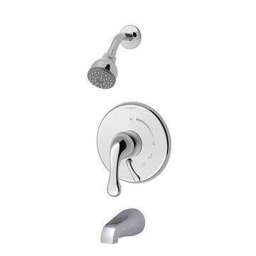 Symmons S-6602-2.0-TRM Unity Tub and Shower Trim Package with Single Function Shower Head with Double Lever Handle - No Rough In