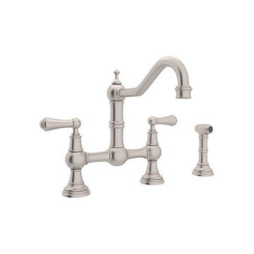 Rohl Bridge Kitchen Faucet in Satin Nickel