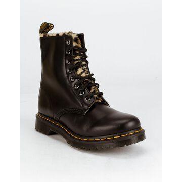 DR. MARTENS 1460 Serena Leopard Faux Fur Lined Boots
