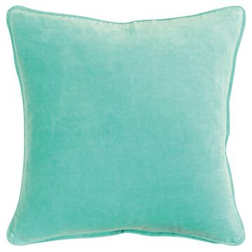 Rizzy Home Connie Post 20-in x 20-in Aqua 100% Cotton Indoor Decorative Pillow in Blue   CNPT16608AA002020