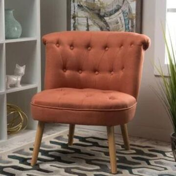 Christopher Knight Home Cicely Tufted Fabric Accent Chair (Orange)