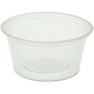Genuine Joe, GJO19062, Portion Cups, 2500 / Carton, Clear