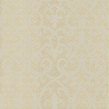 Kenneth James Giselle Gold Ironwork Damask Wallpaper