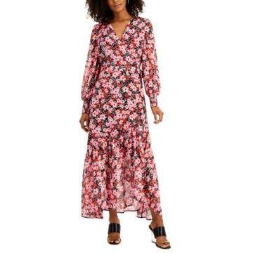 Bar Iii Floral-Print Wrap Dress, Created for Macy's