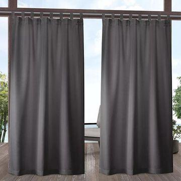 Exclusive Home 2-pack Indoor/Outdoor Solid Cabana Window Curtains, Grey, 54X96