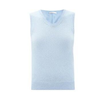The Row - Amalia Scoop-neck Cashmere Tank Top - Womens - Light Blue