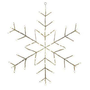 Vickerman 48-Inch Pre-Lit Wire Snowflake Outdoor Decoration